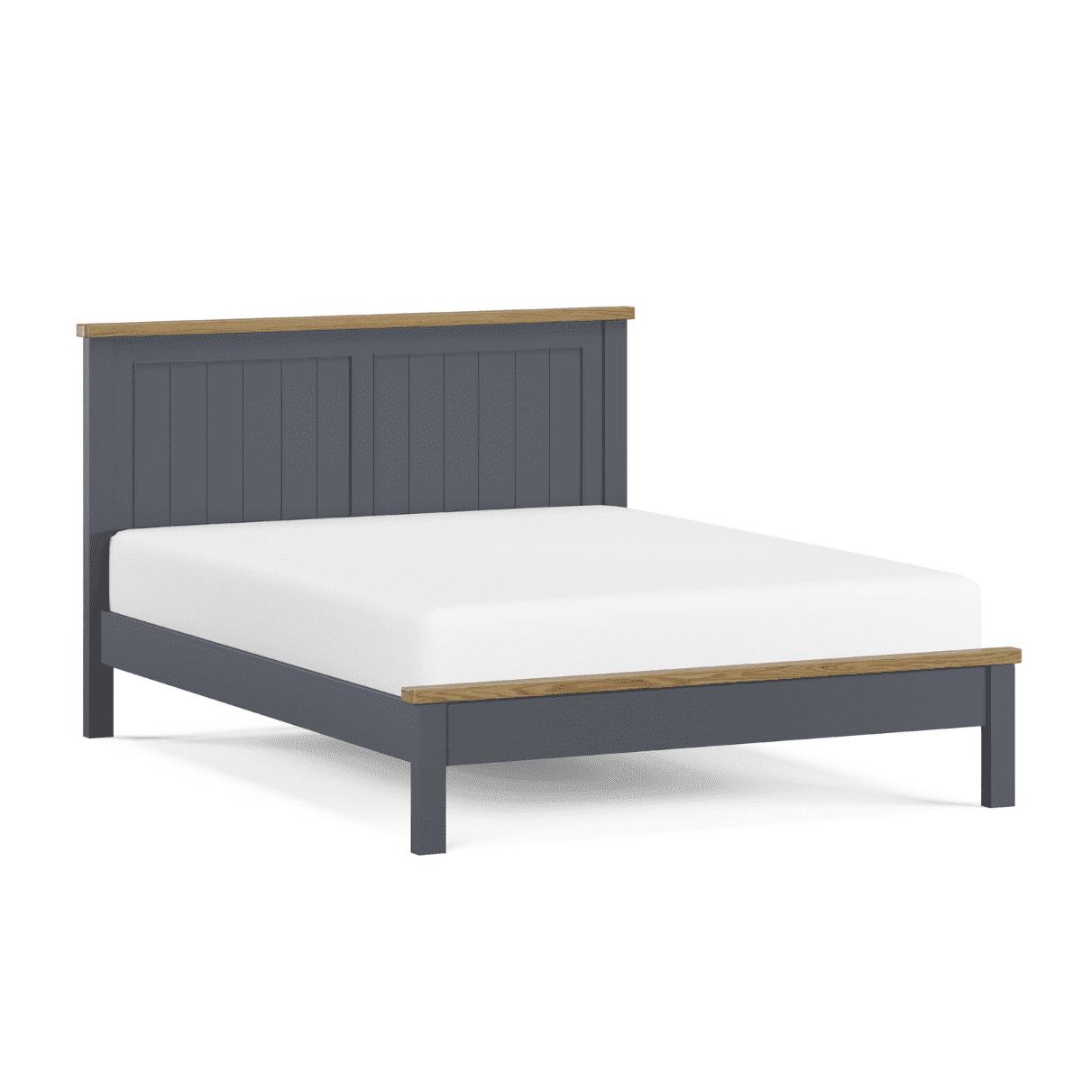 Chesham Blue Wooden Bed Frame - 1