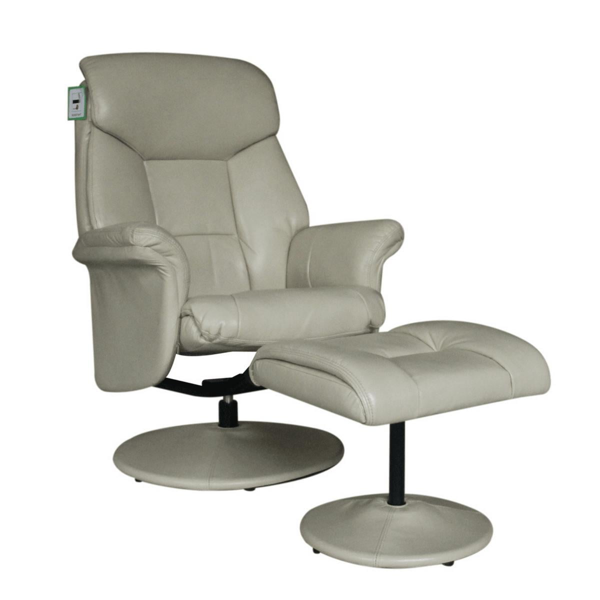 Sneem swivel chair with footstool