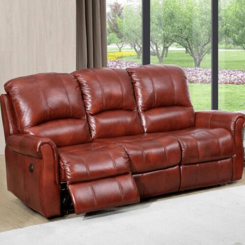 Aston Three-Seater Leather Recliner