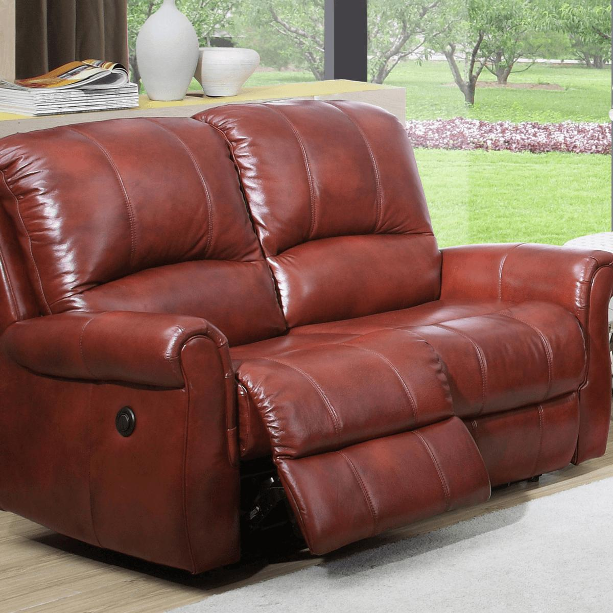 Aston Two-Seater Leather Recliner