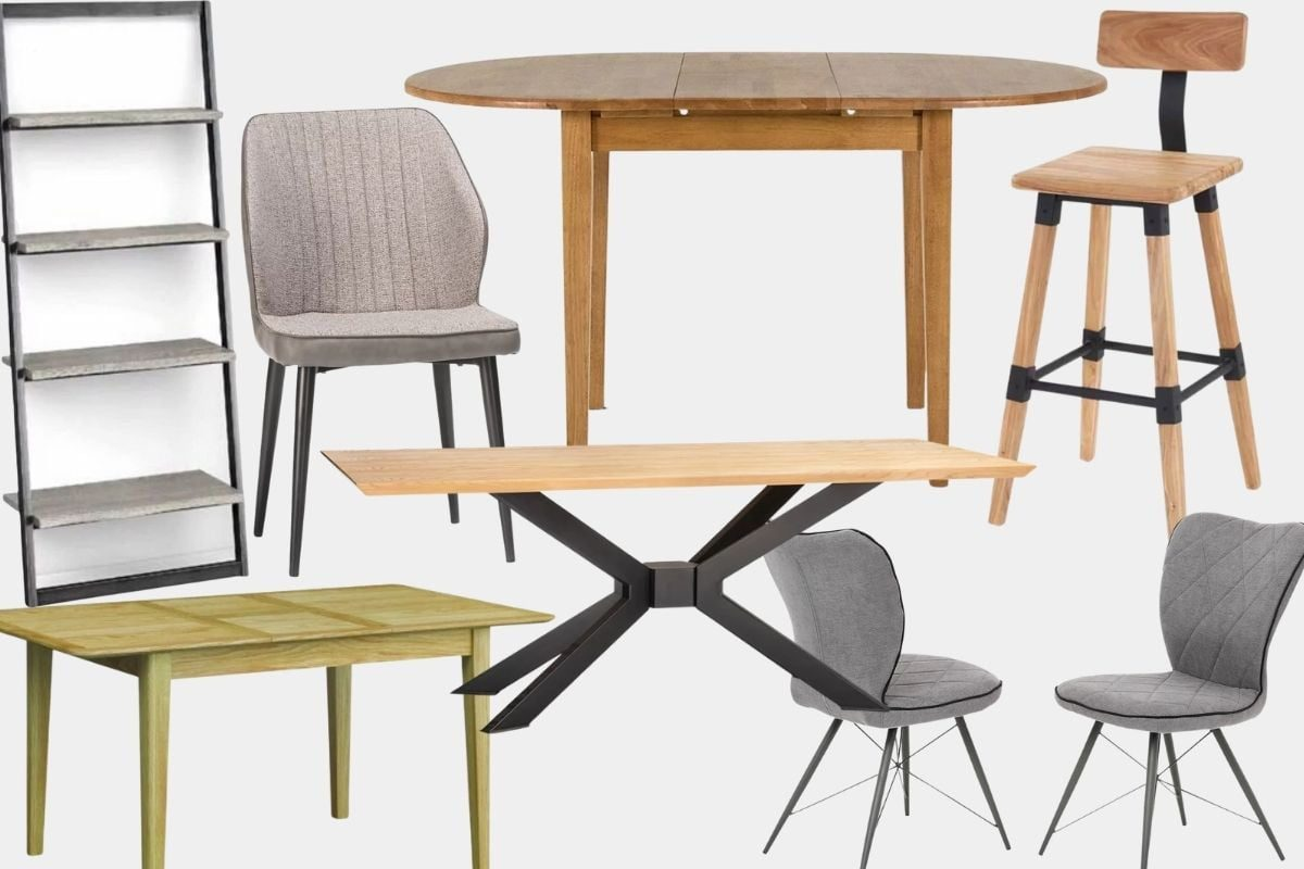 Featured: Brody Bookcase, Brentwood Dining Chair, Ciara Dining Table, Hansen Bar Stool, Evan Dining Chairs, Spector Dining Table, Barnett Dining Table