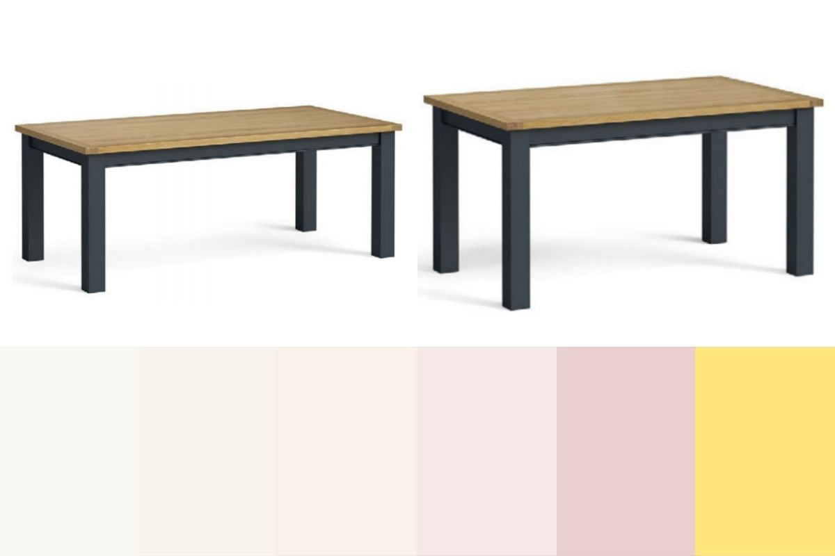 charlie dining table and colours