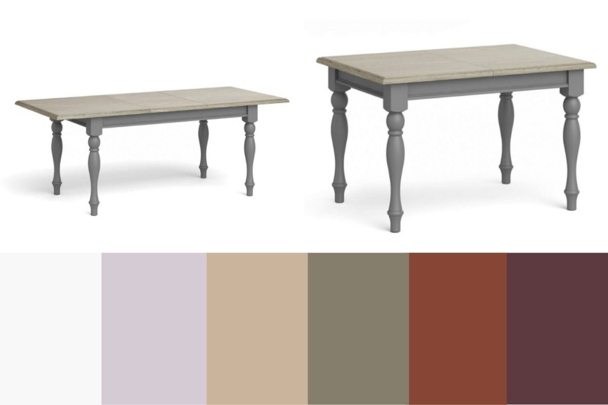 mikey dining table and colours