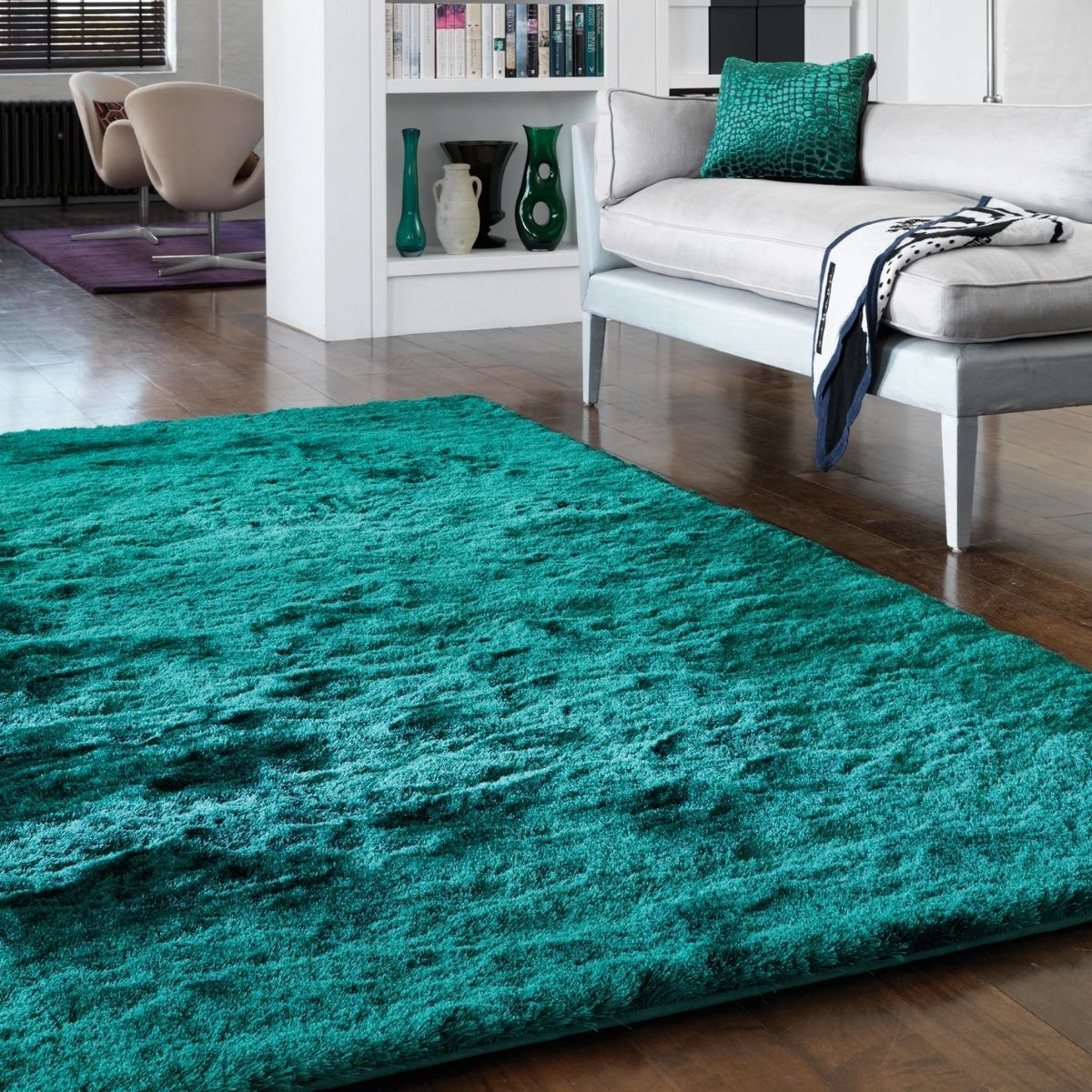 Navy Bedside Table