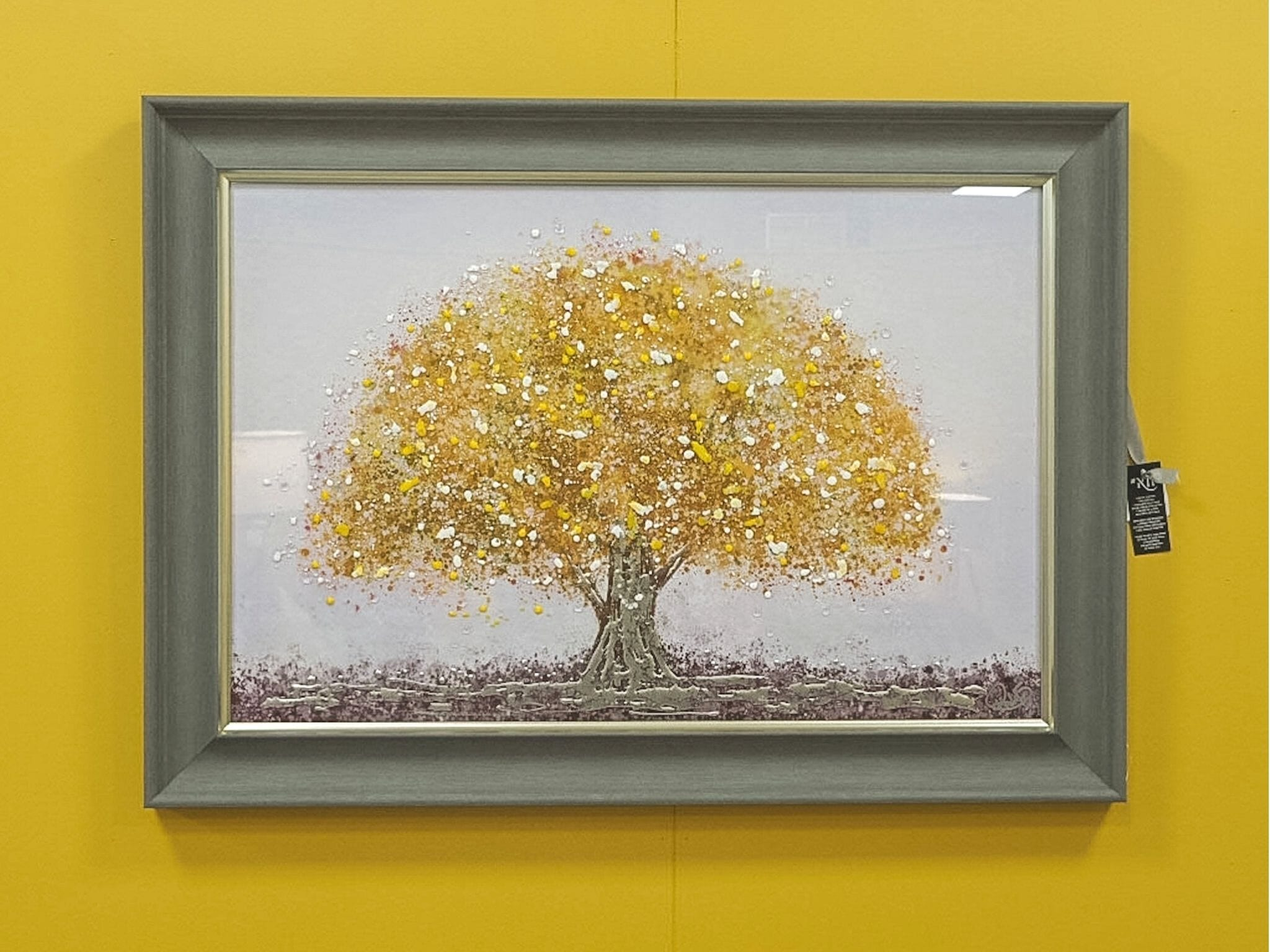 'Spring is Here' yellow 60x90 Framed Wall Art