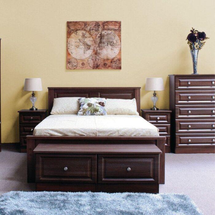 Walnut Wood Bed Frame