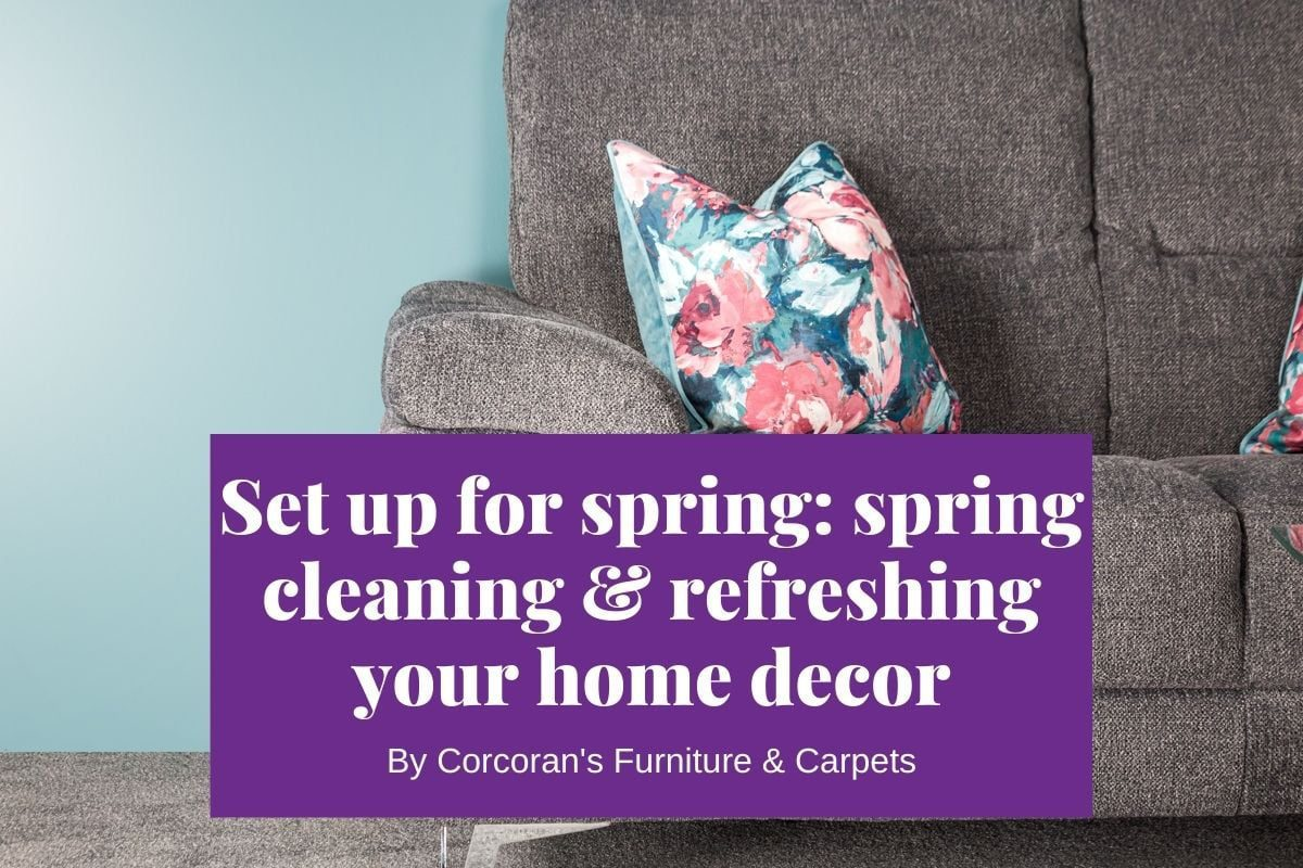 Set up for spring! Spring cleaning and refreshing your home decor
