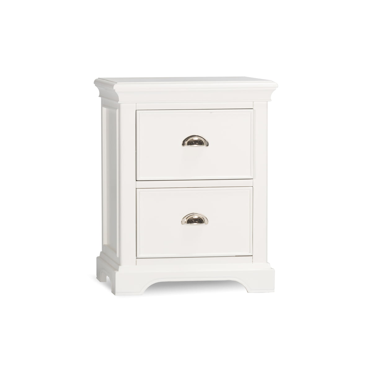 White 2 Drawer Nighstand