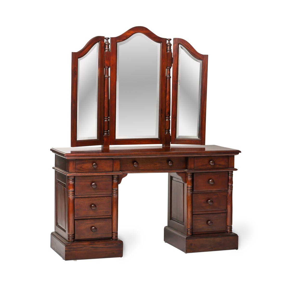 Classic Mahogany Dressing Table Set