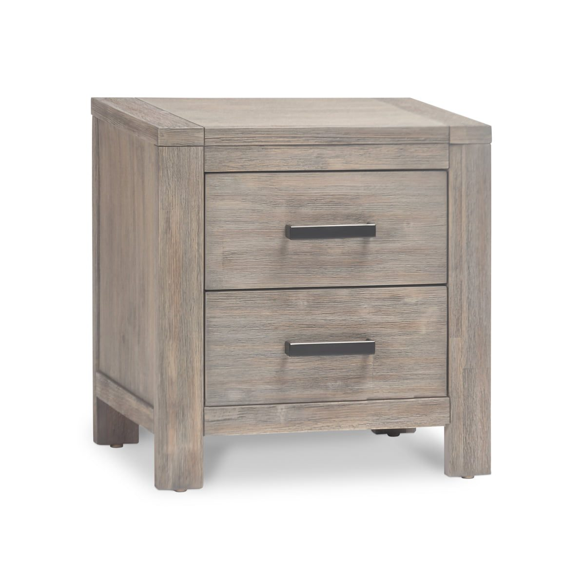 Grey 2 Drawer Bedside Table