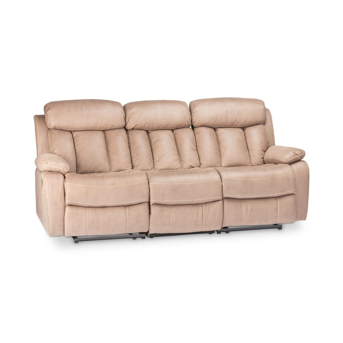 Junior Taupe 3 Seater Recliner