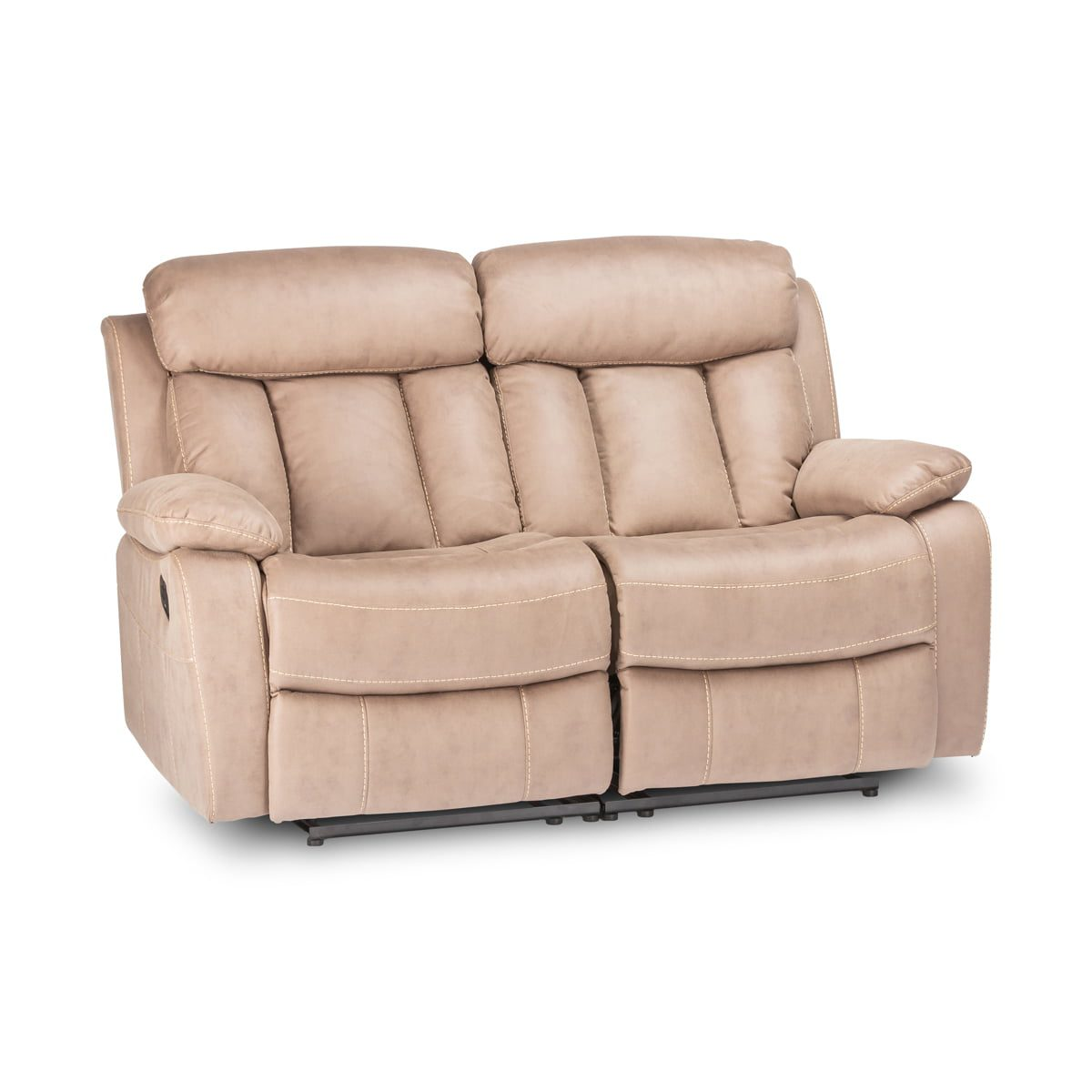Junior Taupe 2 Seater Recliner