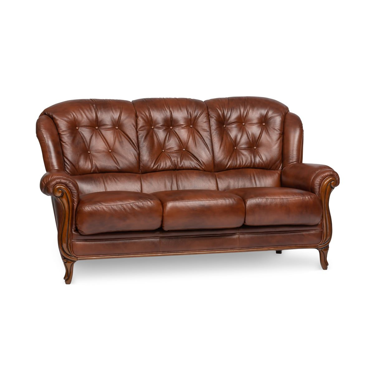 Terni Leather 3 Seater Sofa