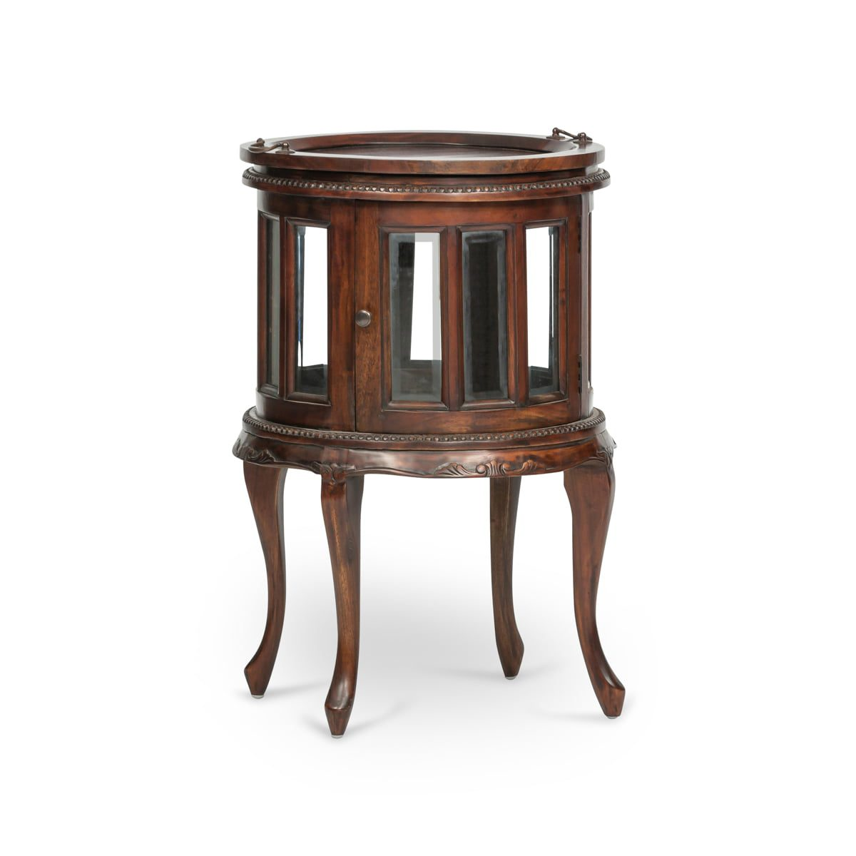 French Oval Victorian Drinks Cabinet
