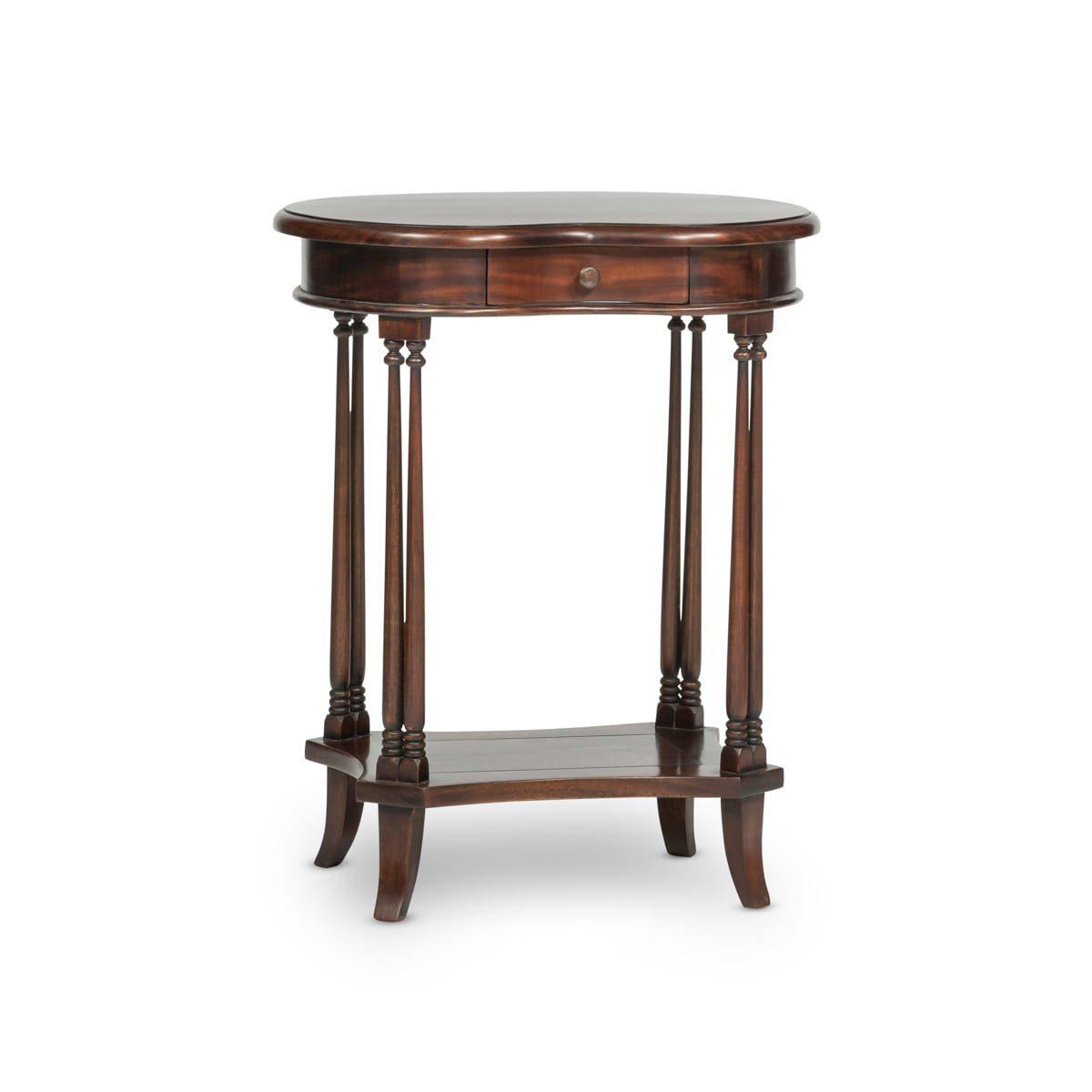 Dark Wood Lamp Table