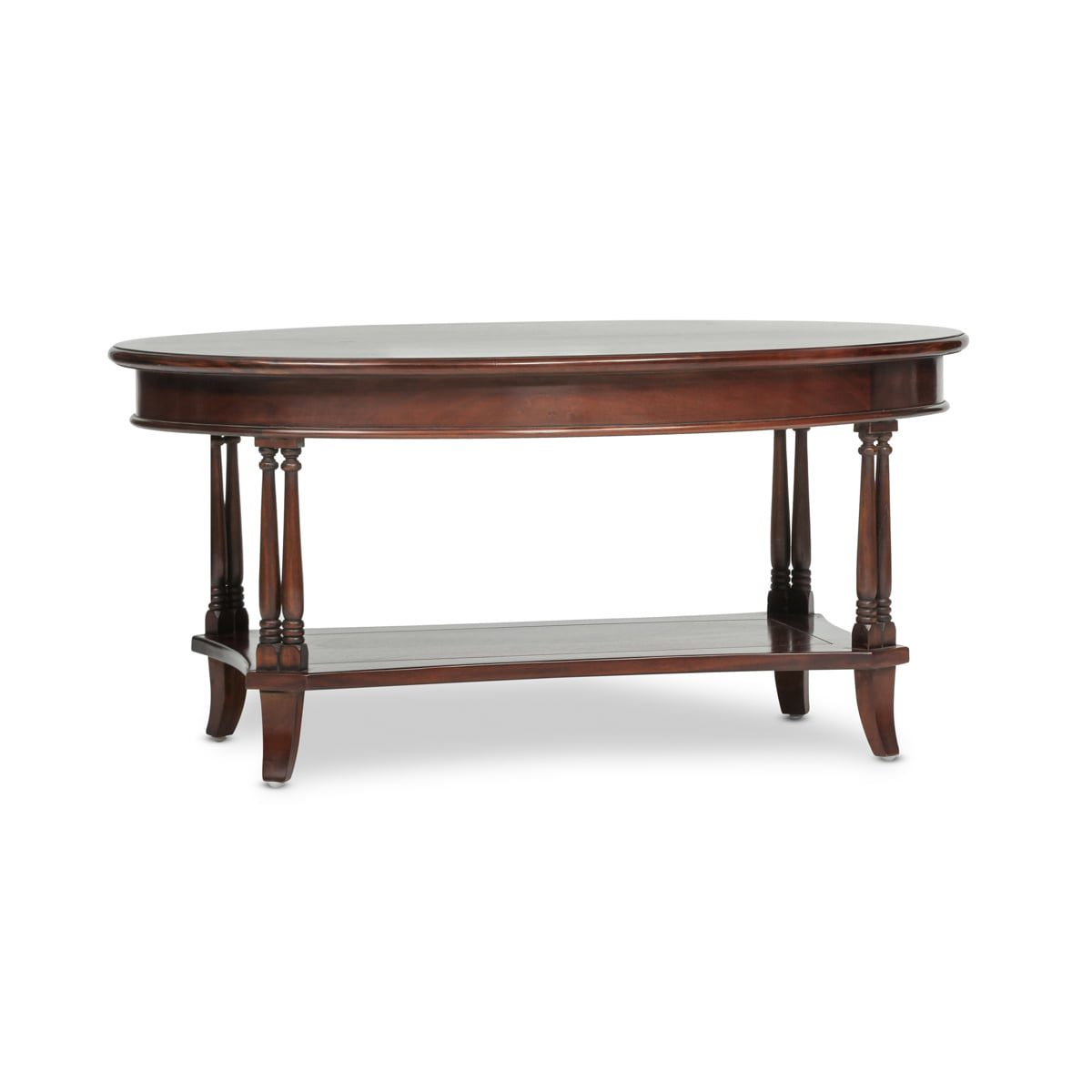 Oval Coffee Table with Shelf