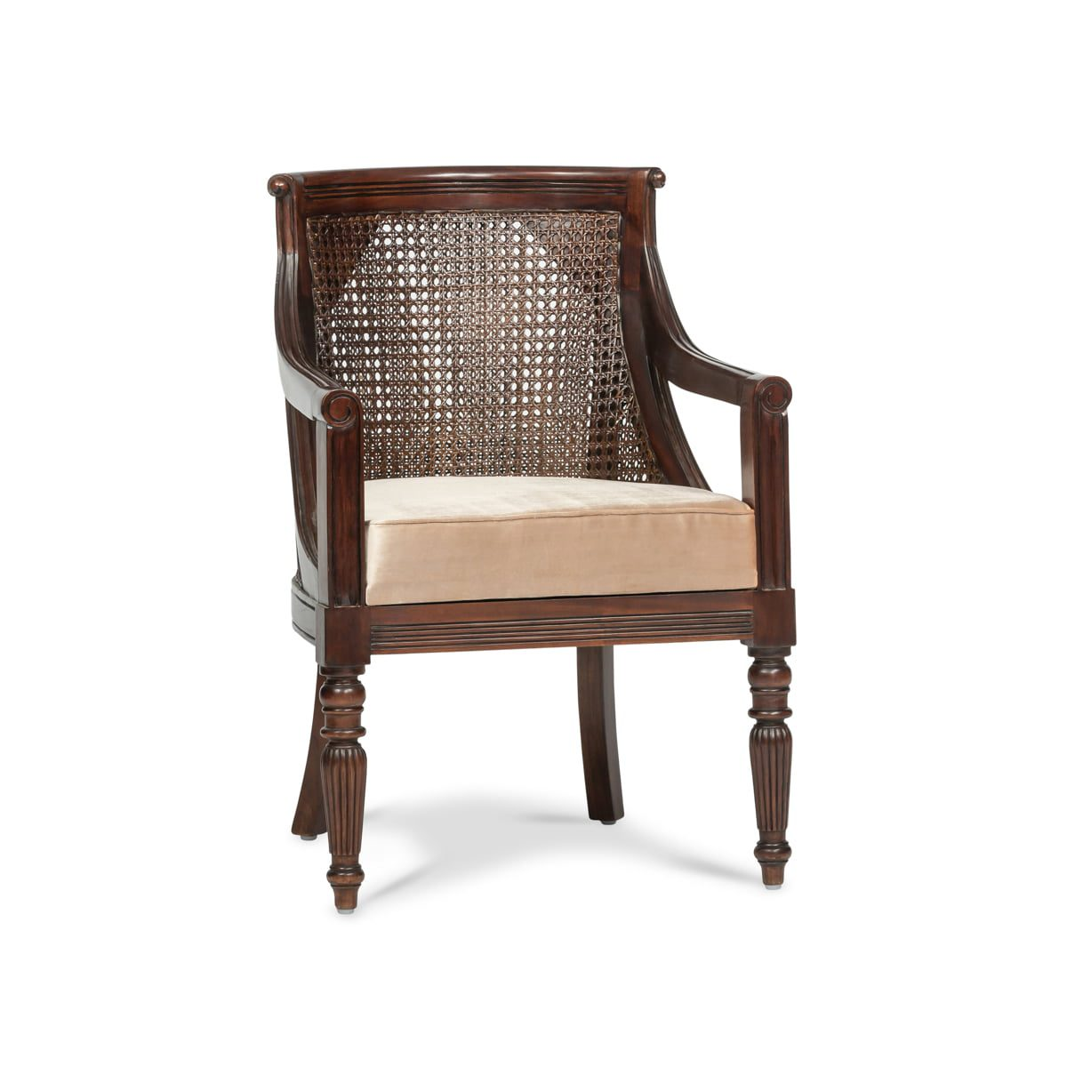 French Cane Barrel Chair