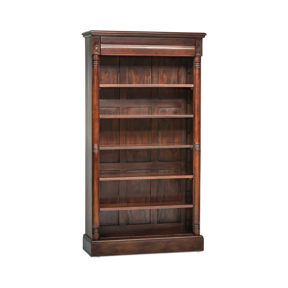 Open Bookshelf with Drawer