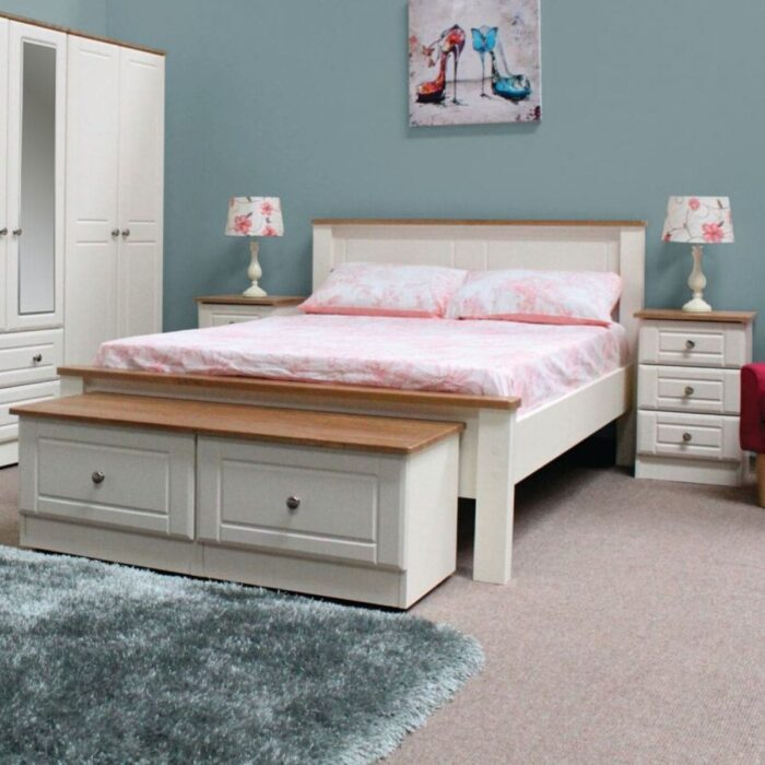 Ivory Wood Bed Frame