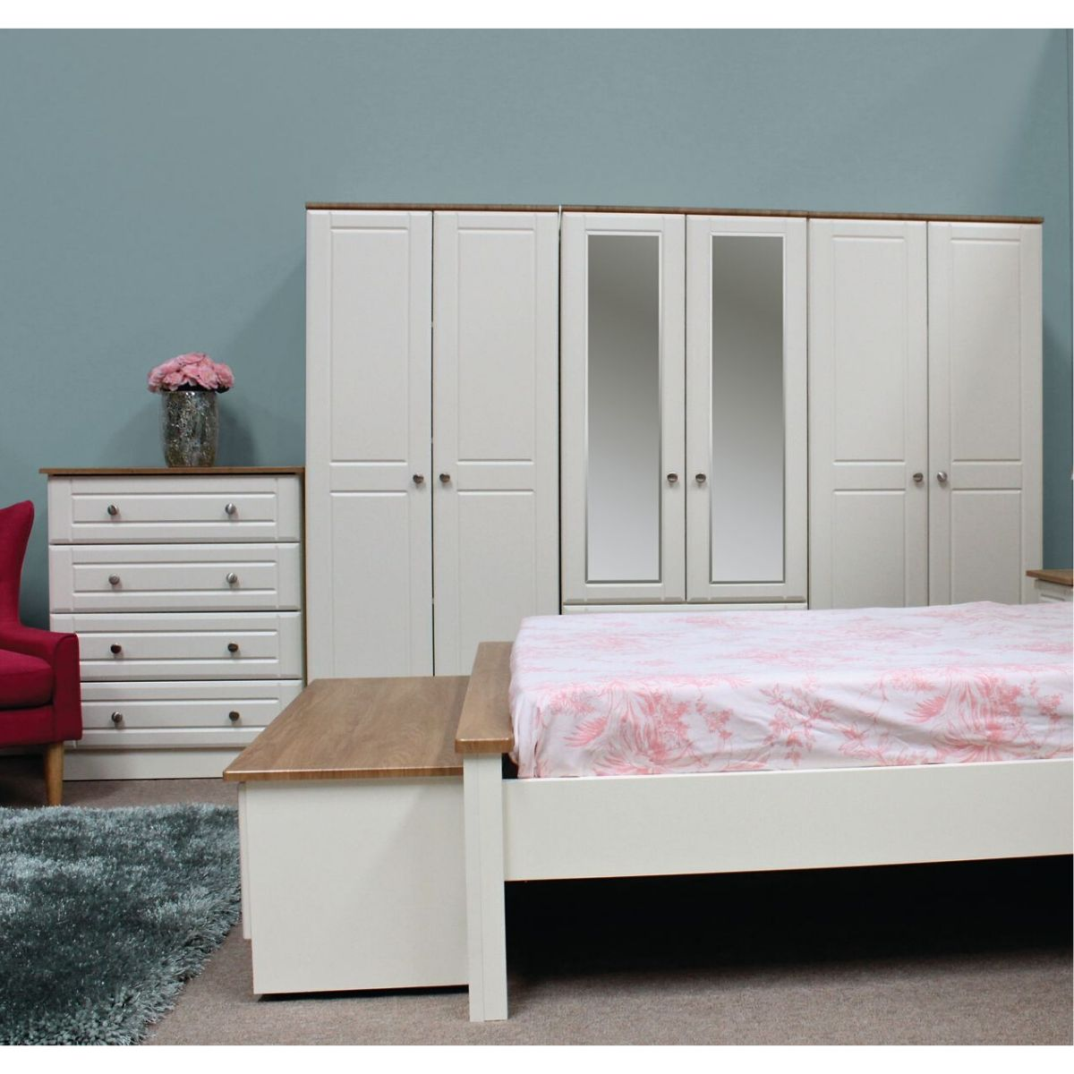 Erne Wardrobe Ivory & Oak - 19 Options