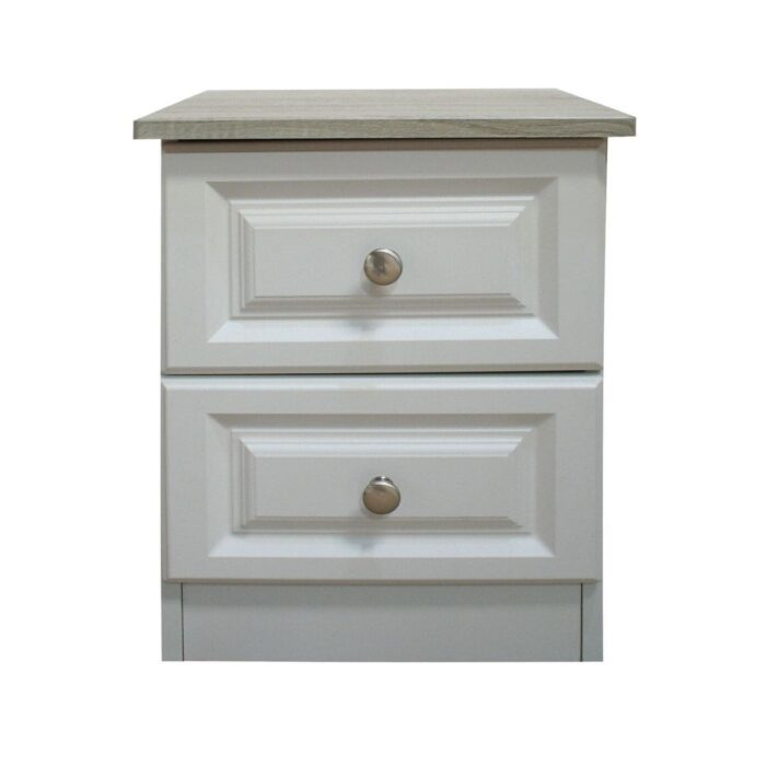 Classic White Bedside Table