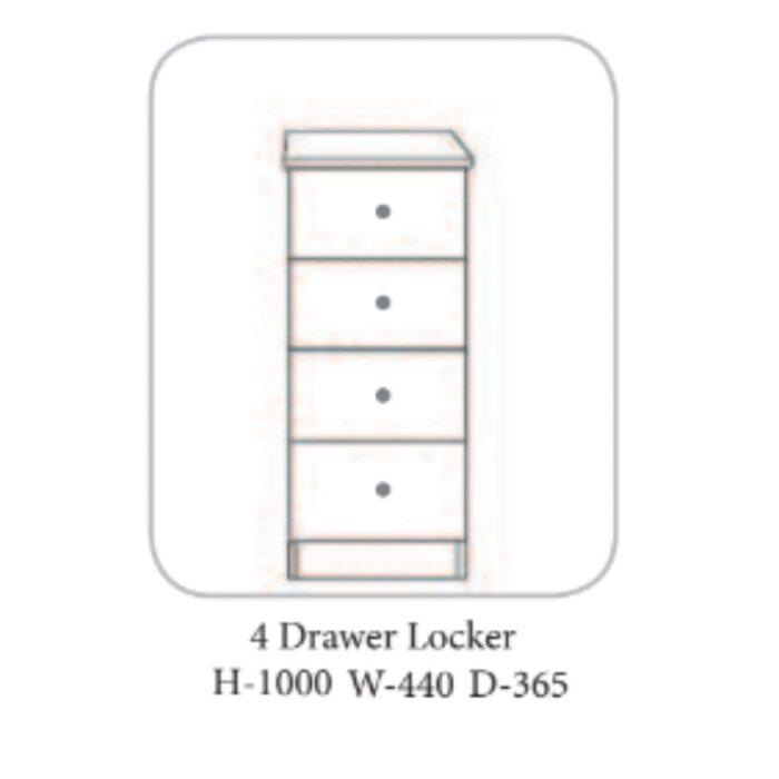 Wales Locker White - 4 Options