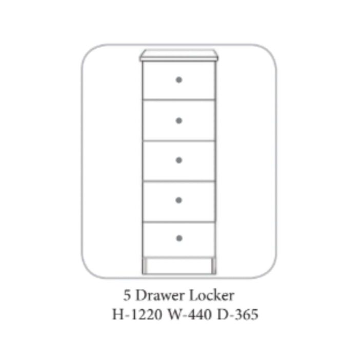 Erne Locker Ivory & Oak - 4 Options