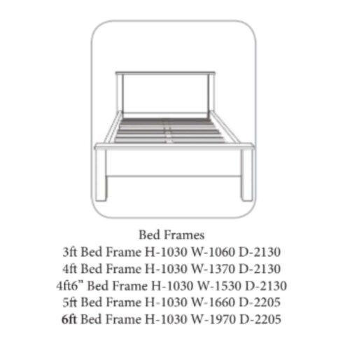 Nore Oak Bed Frame