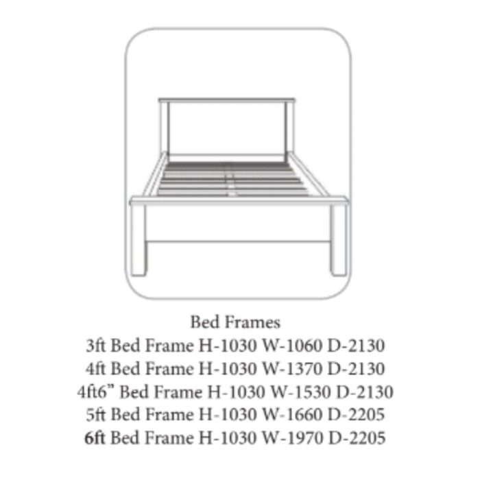 Wales Bed Frame White