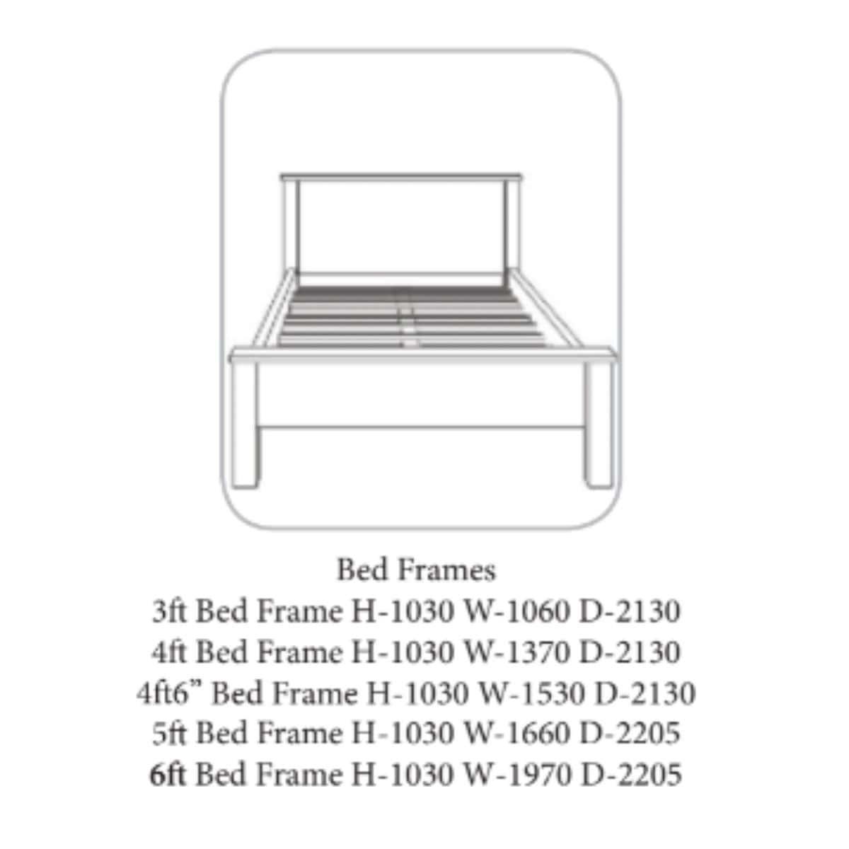 Bandon Bed Frame Walnut