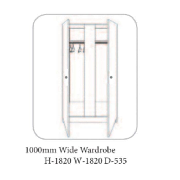 Lee Walnut and Ivory Wardrobe - 19 Options
