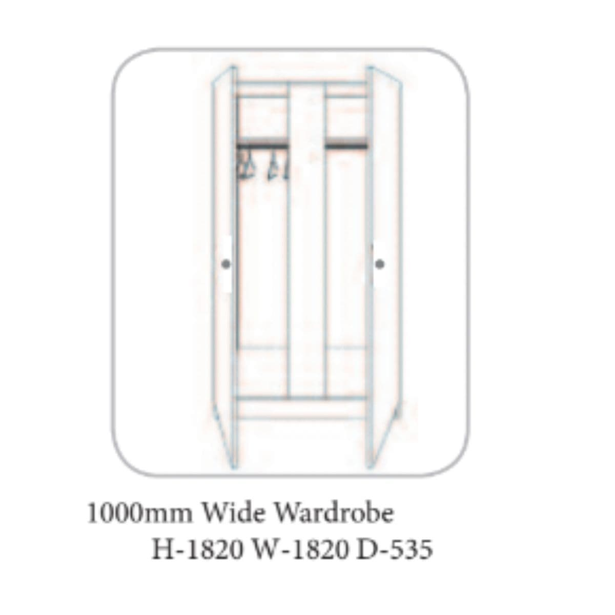 Wales Wardrobe White- 19 Options