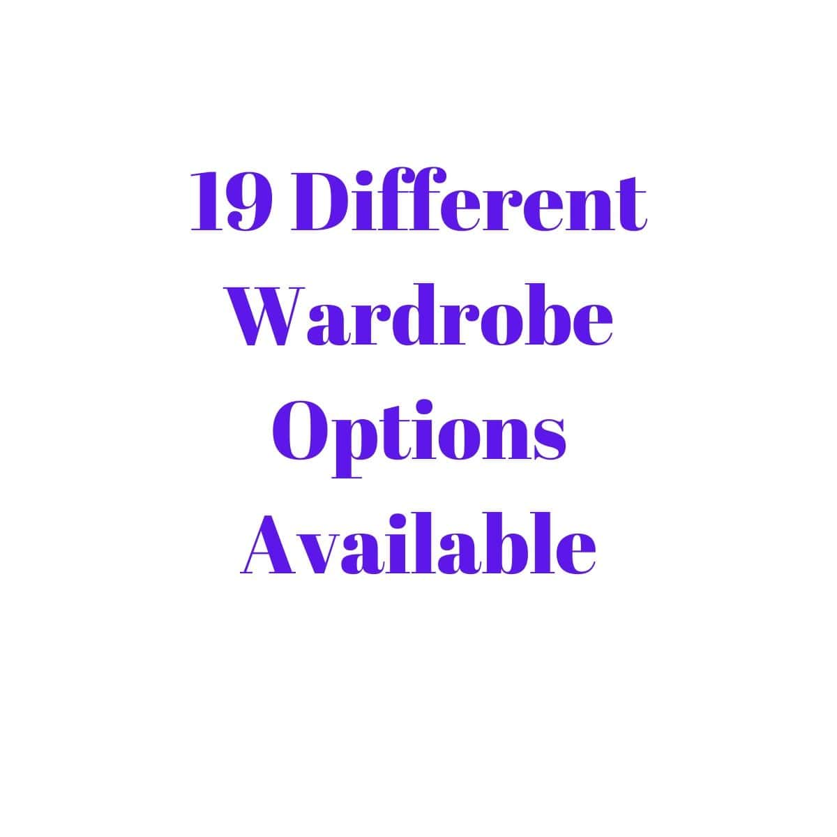 Gurteen Wardrobe Grey Carcass & Truffle Bardolino Top - 19 Options