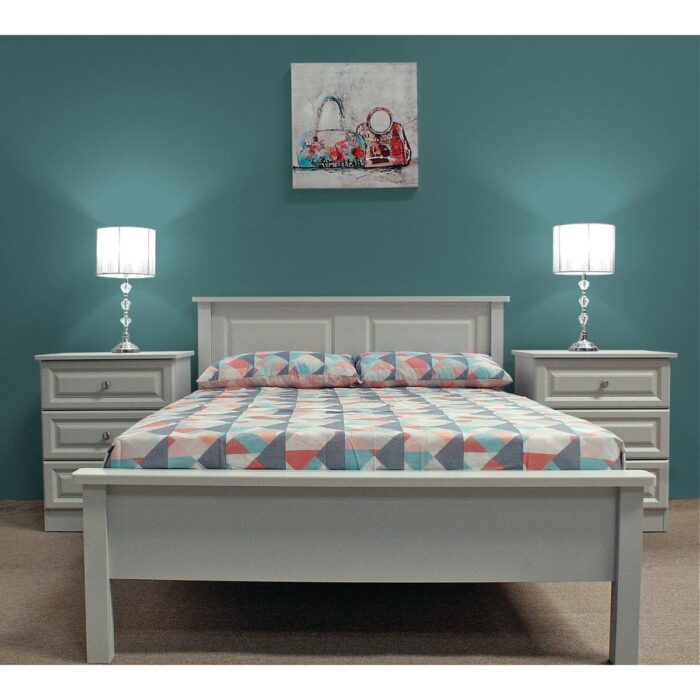 Grey Wooden Bed