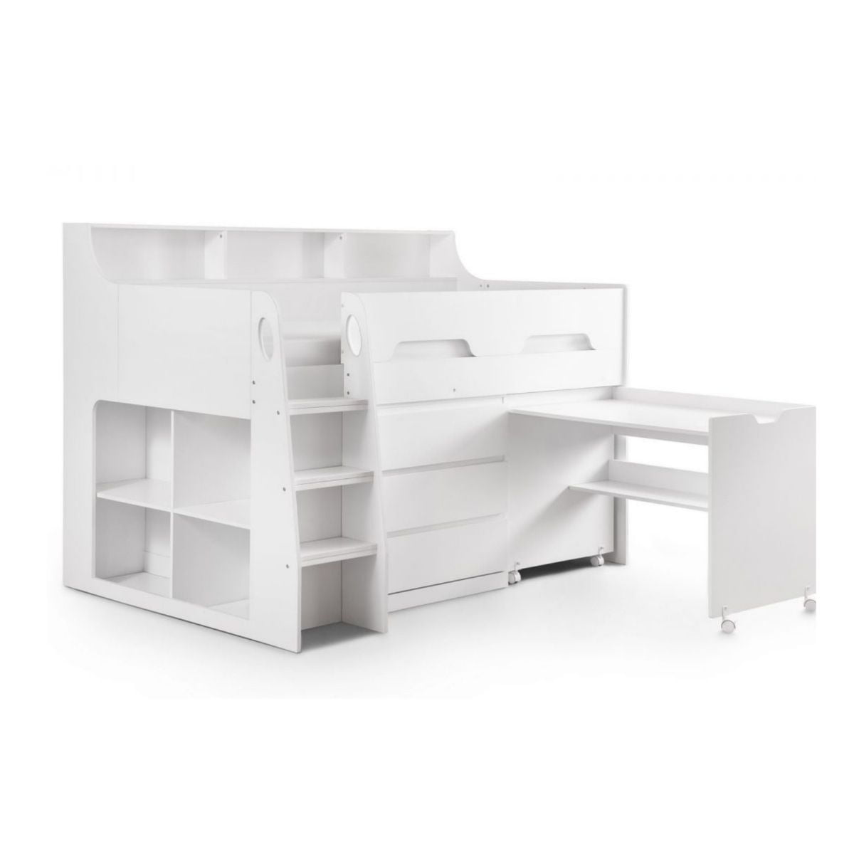 White Wooden Mid Sleeper Bed