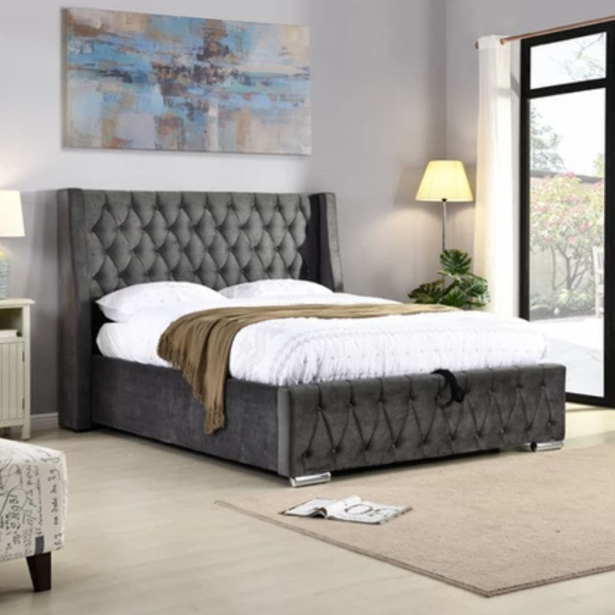 Jamie Gas Lift Fabric Bed