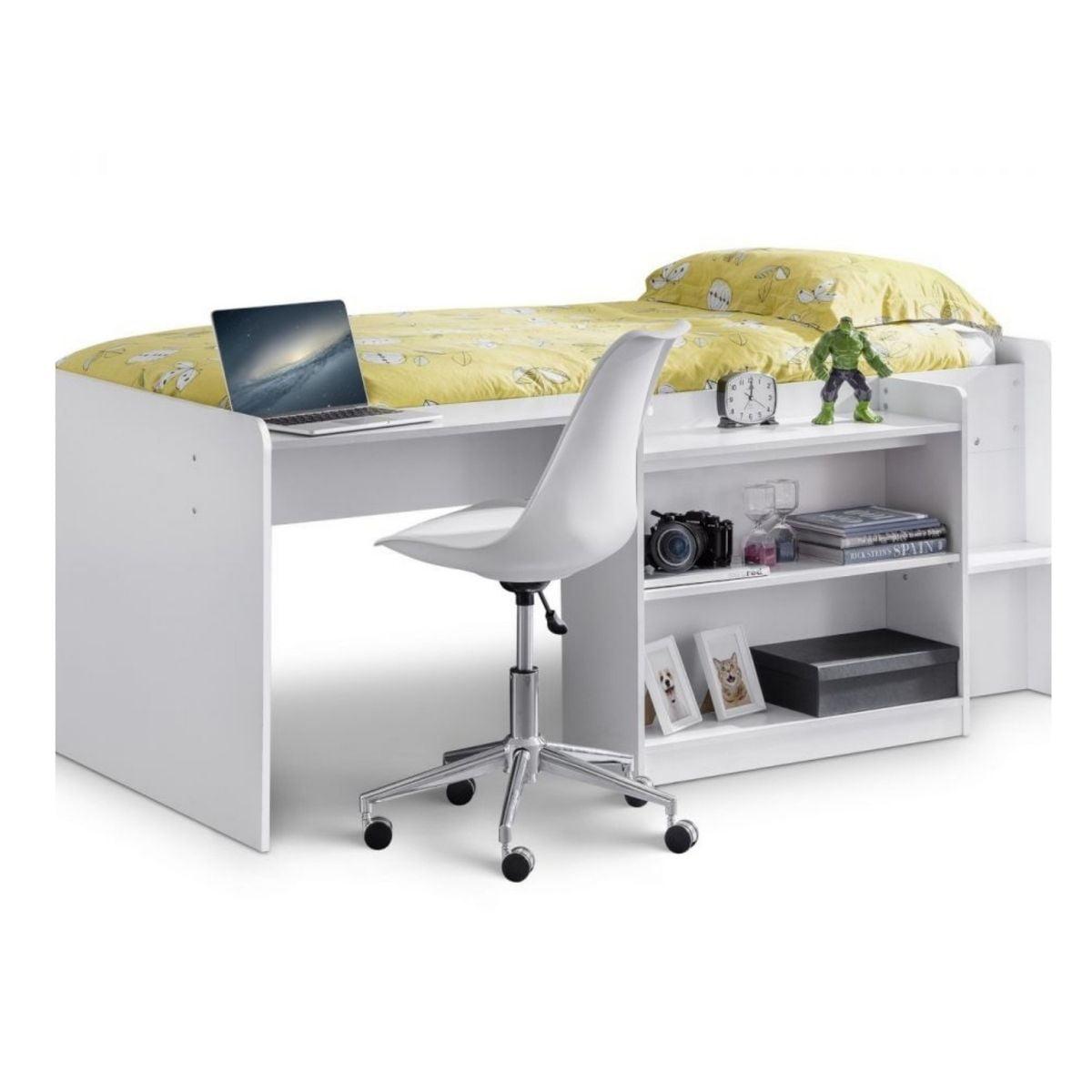 Noel Midsleeper Lofted Bed & Desk Set