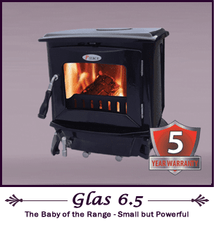 Pierce Stoves - Glas 6.5kW