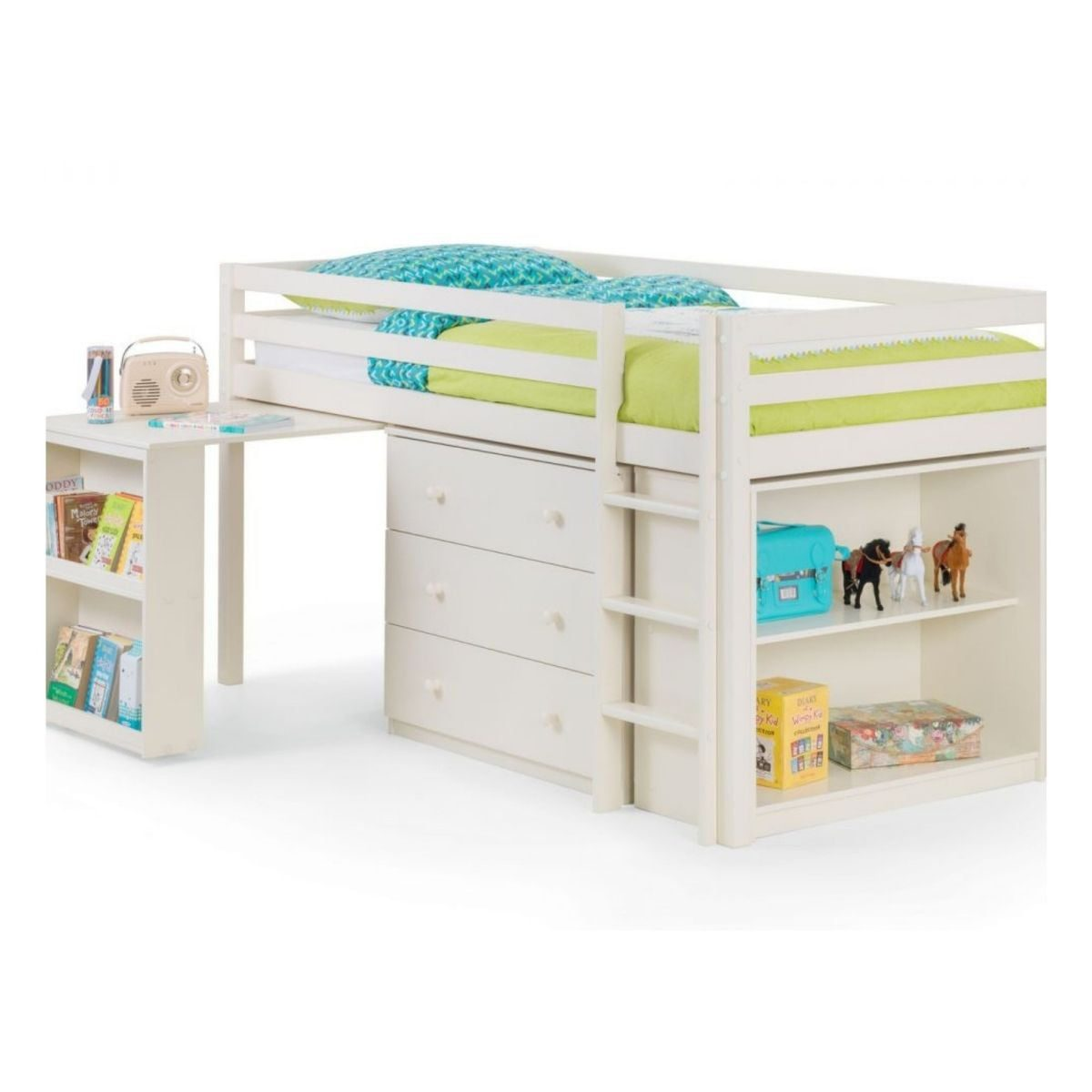 Lofted Bed with Storage