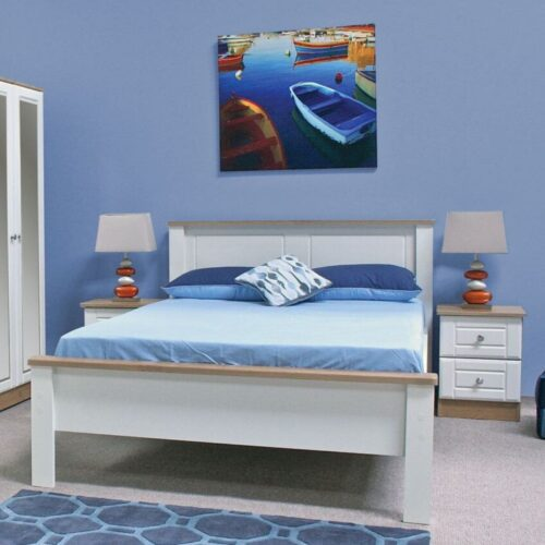 Bed Frame White Wood