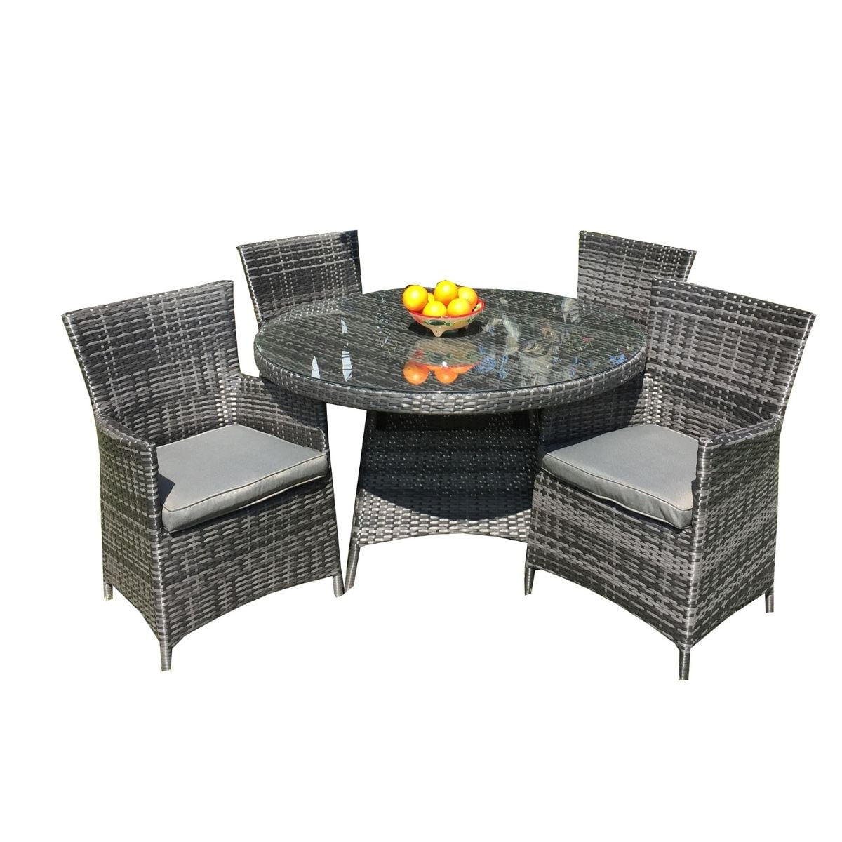 Rhodes Rattan Outdoor Furniture 4 Seater Set