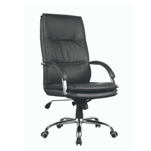 Black Swivel Office Chair with Arms by Spike