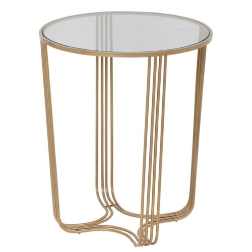 Aida Large Mirrored Top Side Table