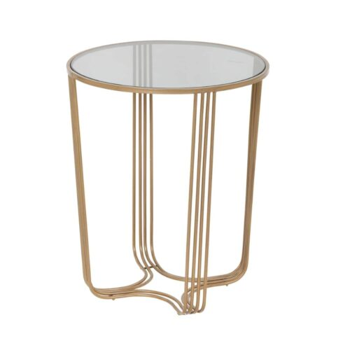 Aida Small Mirrored Top Side Table