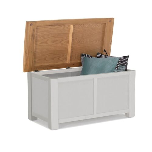Grey Wooden Blanket Box