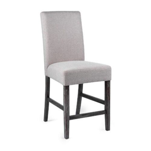 Grey Fabric Bar Stool