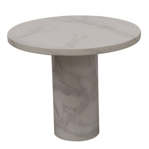 Caleb White Marble Lamp Table