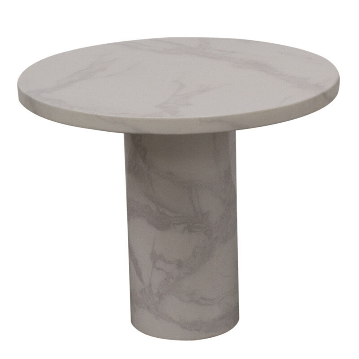 Caleb White Marble Lamp Table