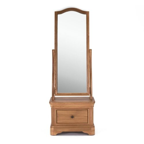 Cassandra Oak Cheval Mirror