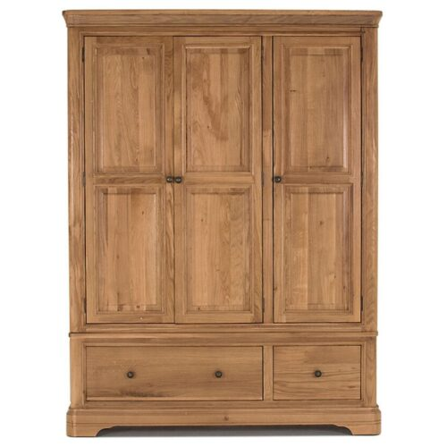 Cassandra Oak Triple Wardrobe